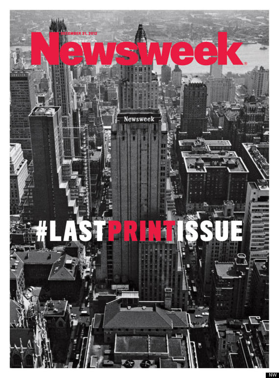 Newsweek's last issue in print